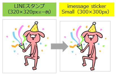 iMessage Stickerサイズ